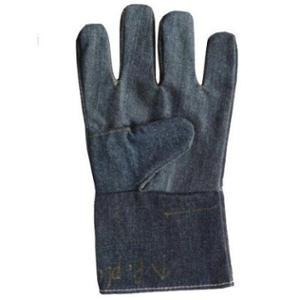 Siddhivinayak 12 inch Blue Cotton Jeans Hand Gloves (Pack of 50)