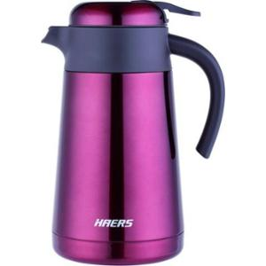 Haers 1600ml Stainless Steel Red Coffee Pot, HK-1600-9-RED