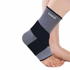 Samson AK-0713 Black & Grey Ankle Support with Binder, Size: S