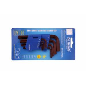 De Neers DNAKBSL Brown Finish 9 Pcs Long Hex Allen Key Set