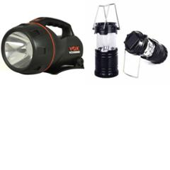 Combo of Homepro LED Solar Emergency Lantern with VOX VOX8000 5W Flashlight Torch