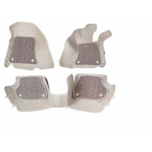 Komfort 3 Pieces 7D Beige Foot Mat Set for Hyundai Verna New