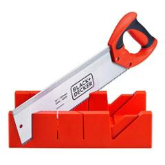 Black+Decker 455mm Orange & Black Mitre Box with Saw, BDHT20346 (Pack of 6)