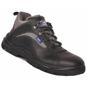 Allen Cooper AC 1192 Leather Steel Toe Black Safety Shoes, Size 7