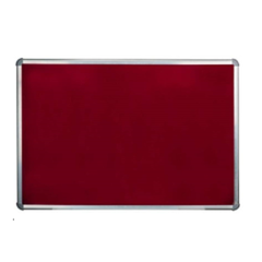 Standard 4x3 Ft Maroon Notice & Pin Up Board