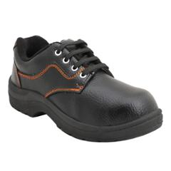 Indcare Fighter Leather Steel Toe Black Safety Shoes, Size: 6 (Pack of 20)
