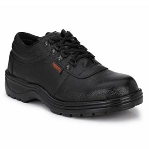 Timberwood TW41 Leather Steel Toe Black Safety Shoes, Size: 9