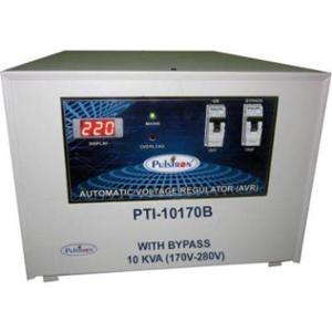 Pulstron PTI-10170B 10kVA 170-280V Single Phase Grey Bypass Automatic Voltage Stabilizer for Mainline