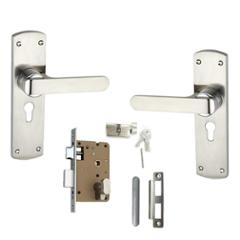 Atom O-35 Stain Finish Cylindrical Mortise Lock Set With 3 Brass Keys