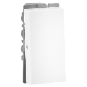 Havells 16A X Polycarbonate White 1 Way Switch, AHFSXXW161