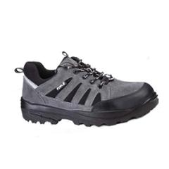Fuel Torpedo Grey Leather Steel Toe Safety Shoes, 634-3806, Size: 6