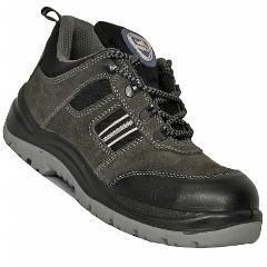 Allen Cooper AC-1156 Antistatic Steel Toe Grey & Black Safety Shoes, Size: 5