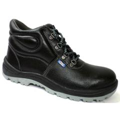 Allen Cooper AC 1008 Antistatic Steel Toe Black & Grey Safety Shoes, Size: 5