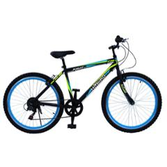Hi-Bird Robust MS 26 Inch 7 Speed Black Mountain Cycle, HB-RBT7S