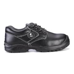 Fuel Marshal L/C Black Leather Steel Toe Safety Shoes, 639-8301, Size: 9