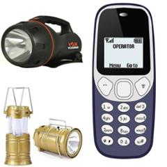 Combo of Homepro LED Solar Emergency Lantern with VOX VOX8000 5W Flashlight Torch & I kall K71 1.4Inches Mobile Phone