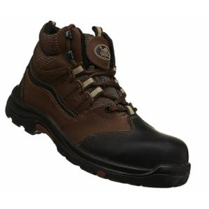 Allen Cooper AC-1432 Heat & Shock Resistant Brown Safety Shoes, Size: 8