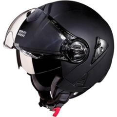 Studds Downtown Matt Black Open Face Helmet, Size (XL, 600mm)