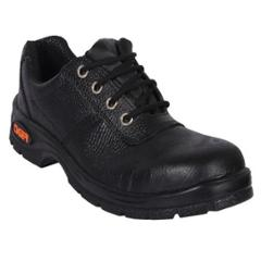 Tiger Lorex Steel Toe PU Sole Black Safety Shoes, Size: 5