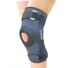 Samson Deluxe NE-0611 Black Hinged Knee Cap with Open Patella Gel Pad, Size: XXL