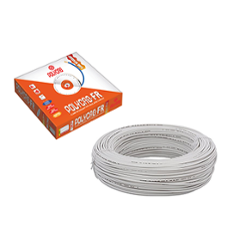 Polycab 6 Sqmm 200m White Single Core LSZH Multistrand PVC Insulated Unsheathed Industrial Cable