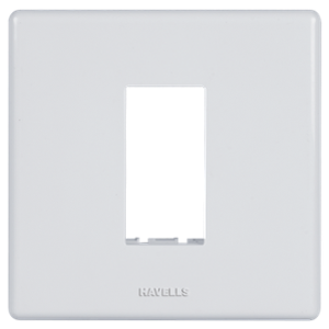 Havells 1 Module Polycarbonate White Fabio Front Plate, AHFPLCWV01