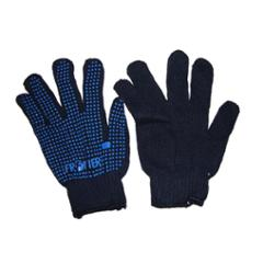 Frontier Blue Dotted Cotton Hand Gloves (Pack of 12)