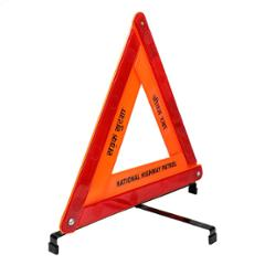 Safies Road Safety Reflective Warning Triangle with Double Stand (Pack of10)