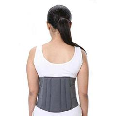 Witzion XL Lumbo Sacral Grey Back Support Belt, WI-16-Grey-XL