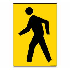 Safety Sign Store Pedestrian Crossing-Graphic Sign Board, GS893-A4PC-01