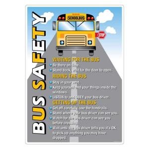 Safety Sign Store Bus Safety for Children Sign Board, ST804-A2V-01