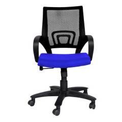 R P Enterprises Shire Medium Back Blue Office Chair, Dimensions: 45x48x60 cm