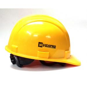 Heapro Yellow Ratchet Safety Helmet, HR-001 (Pack of 5)