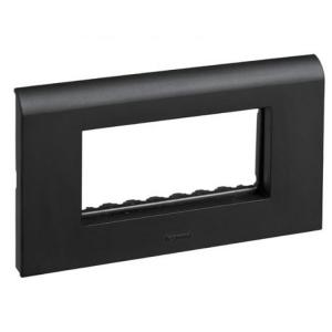 Legrand Myrius New Black Plates With Frame 12 Module Plate + Frame, 6732 98