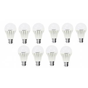 Spirite 12W B-22 Bright Milky White LED Bulb (Pack of 10)