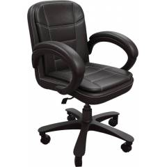 Mezonite Medium Back Leatherette Black Office Executive Chair