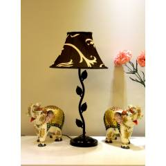 Tucasa Table Lamp with Polysilk Shade, LG-265, Weight: 600 g
