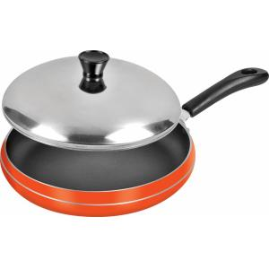 Sheffield Classic Orange Steel Fry Pan with Lid, SH-4022-13-OR