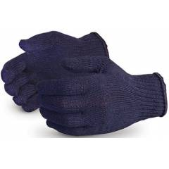 RK 40 g Blue Cotton Knitted Hand Gloves (Pack of 100)