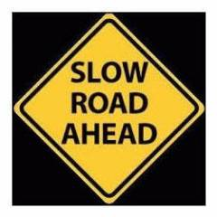 Mamta Trading Corporation Slow Road Ahead Sign Board, Size: 24x24 Inch