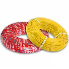 Havells 6 Sq mm Life Line Plus S3 FR Heat Resistant Yellow Cable, WHFFDNYL16X0, Length: 180 m
