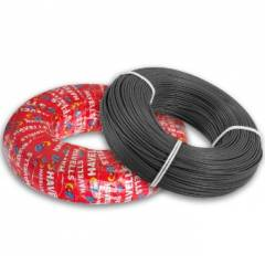 Havells 6 Sq mm Life Line Plus S3 FR Heat Resistant Black Cable, WHFFDNKL16X0, Length: 180 m