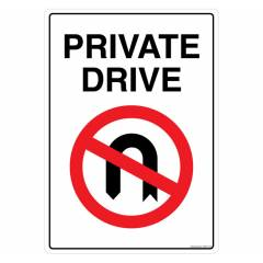 Safety Sign Store Private Drive Sign Board, GS503-A4V-01
