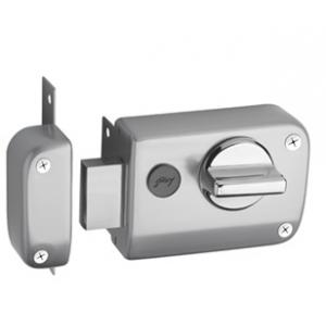 Godrej Ultra XL+ Rim Deadbolt 1 CK Satin Nickel Rim Lock, 6078