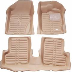 Oscar 5D Beige Foot Mat For Tata Indica V2 (Pack of 5)