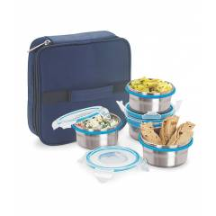 Topware Lock N Lock Steel Lunch Box With 4 Containers