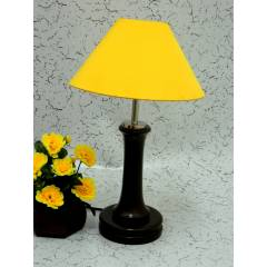 Tucasa Fashionable Wooden Table Lamp with Yellow Shade, LG-1012