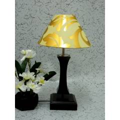 Tucasa Flamingo Wooden Table Lamp with Khadi & Golden Shade, LG-997