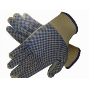 Midas Blue Cotton Dotted Gloves, Size: Small (Pack of 12)