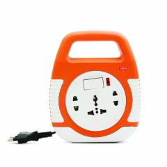 GM 3040 2 Pin 5m Wire Square Extension Cord with Indicator & International Socket